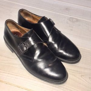 Barney's NY black buckle monk strap Oxford shoes